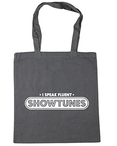 HippoWarehouse 10 Speak Showtunes Bag Tote litres Fluent Grey 42cm Beach Shopping Gym x38cm I Graphite rRqFZwr