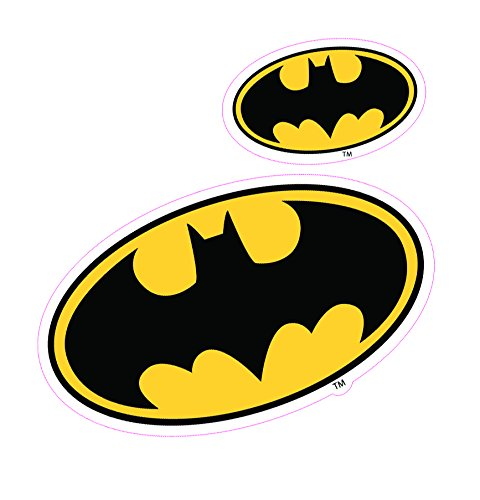Enjoy It DC Comics Batman Logo Car Stickers, 2 pieces, Outdoor Rated Vinyl Sticker (Logo Car Decal Sticker)