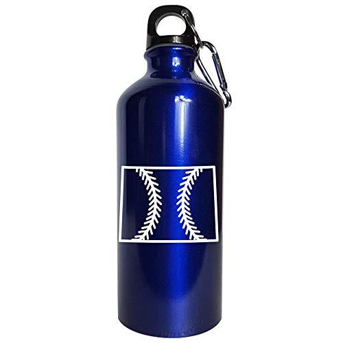 Wyoming Baseball USA State Pride - Water Bottle Metallic Blue