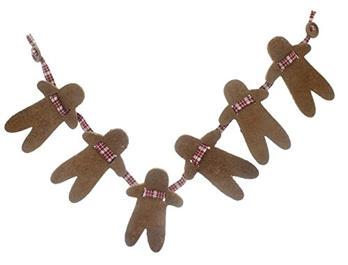 Wooden Ginger Bread Man Garland - Christmas Decorations and Decor - 5