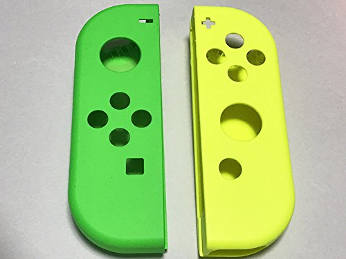 Yellow Housing - Full Housing Faceplate Handle Shells Case Cover for Nintendo Switch Controller Joy-Con Faceplate Left Green Right Yellow