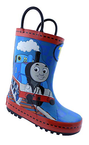 Thomas The Train Toddler Boy's Pull-On Rubber Rain Boots (9 M US Toddler)