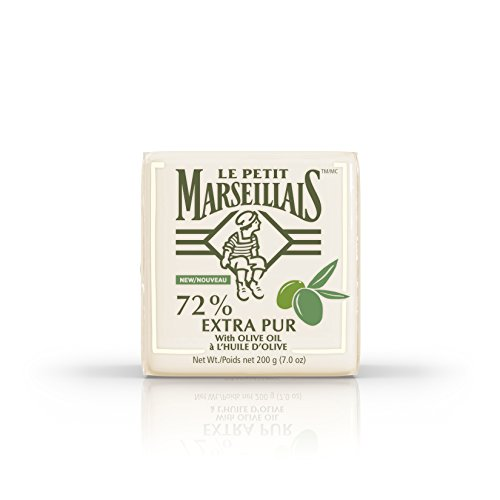 Le Petit Marseillais 72% Extra Pur Bar Soap Enriched with Olive Oil, French-Inspired Bath Soap to Moisturize & Nourish Skin, 7 oz
