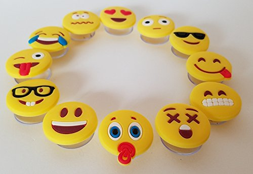 Emoji Charms with Suction 12 Pack, Perfect Markers for Everything from Wine Glass to Red Cups! Lifetime by Lifetime Inc (Image #7)