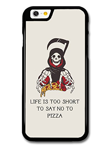 Cool Death Grim Reaper Pizza Grunge Tattoo Design Quote Life's Too Short case for iPhone 6 6S