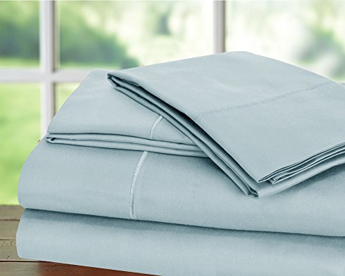 Hotel Collection! Luxury Sheets on Amazon Top Seller in Bedding! - Blockbuster Sale: Todays Special - Luxury 1000 Thread count 100% Egyptian Cotton Sheet Set, King - Light Blue - Today Sale