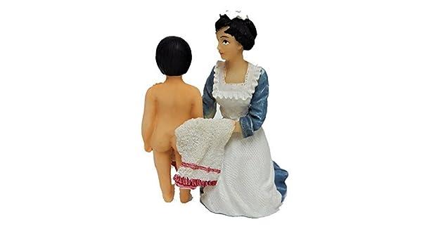 Melody Jane Casas de Muñecas Niño Victoriano Criada de secado 1:12 personas De Resina Figura