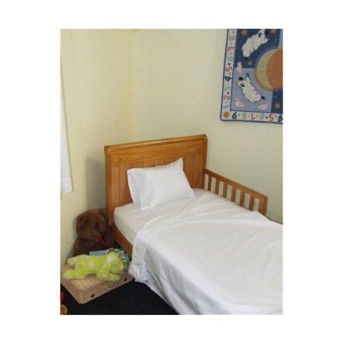 Toddler Bed Sheet Set 100% Cotton 3 Piece Set Color White