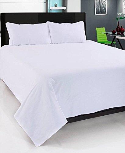 Saraswati Impex Plain White Bed Sheet Bed Bed Sheet 60/90