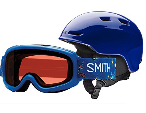 Smith Optics Youth Zoom Jr/Gambler Combo Ski Snowmobile Helmet - Cobalt/Youth - Youth Helmet Snow