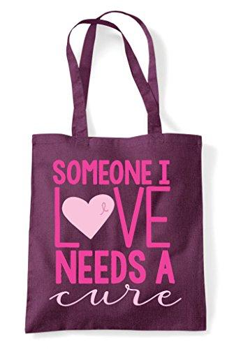 Shopper Plum Someone Love Needs Bag Tote A I Cure r08qr