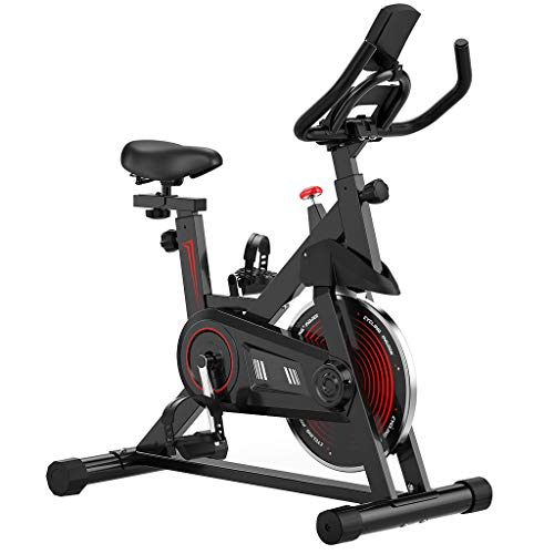 Indoor Exercise Bike, Exercise Cycling Bike with I-pad Mount &Comfortable Seat Cushion, Indoor Cycling Bike Stationary…