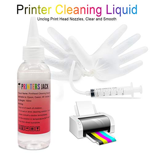 PJ Printhead Cleaning Kit Nozzle Solution for Brother HP Officejet