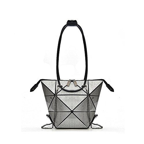 Satchel Shoulder Style1 Clutch Bag Geometric Fashion Rhombus Metal Purse LZHA Chain Handbags qtzAw7xHa