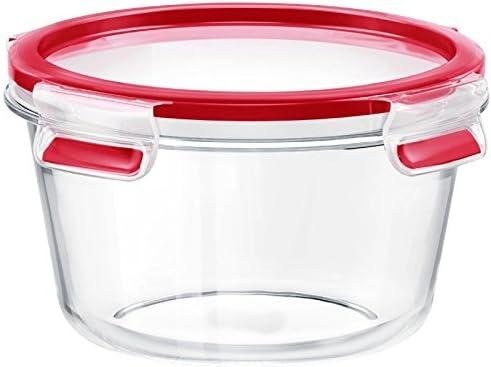 emsa Frischhaltedose CLIP /& CLOSE Glas rund 0,90 Liter