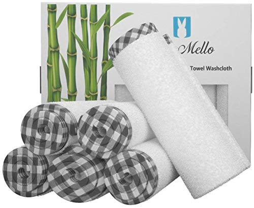 Baby Washcloths | Organic Bamboo Towels for Babies | Soft and Gentle Wash Cloths for Toddlers | Absorbent Infant Towel for Bath | Perfect for Sensitive Skin | Ideal Baby Registry and Baby Shower Gift (Must Have Bee)