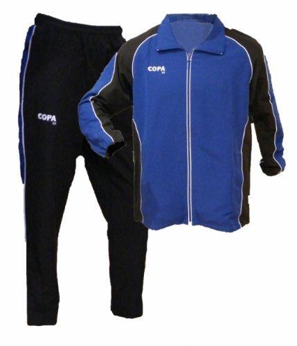 PowerPlay Herren Trainingsanzug COPA, Erwachsenen-Präsentaionsanzug, Gr. L, blau/schwarz