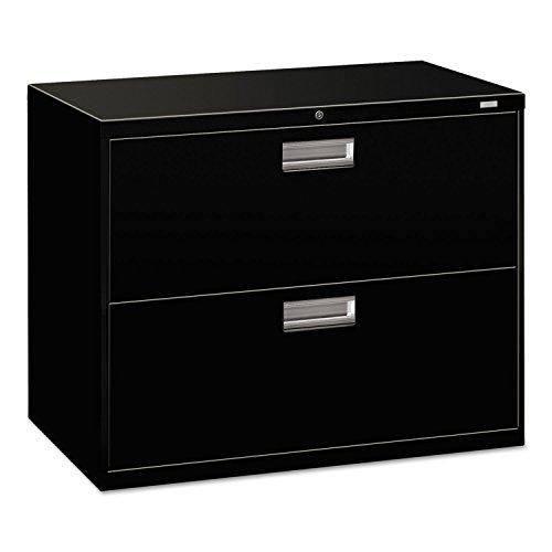 (HON 2-Drawer Filing Cabinet - 600 Series Lateral Legal or Letter File Cabinet, Black (H682))