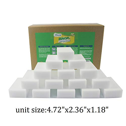 Colin (42 Pack) Magic Eraser High Density Cleaning Sponges Melamine Foam