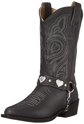 Roper Dale R Toe Harness Cowgirl Boot (Toddler/Little Kid), Black, 1 M US Little Kid