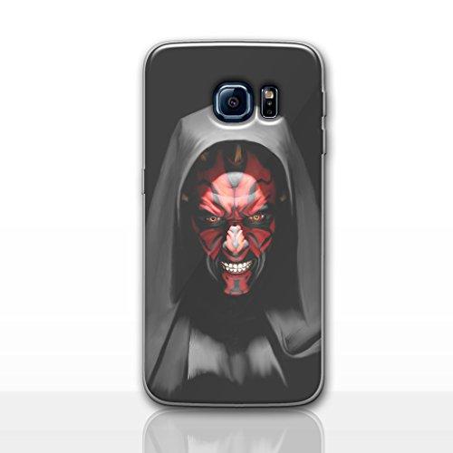 Galaxy S7 Star Wars Silicone Phone Case / Gel Cover for Samsung Galaxy S 7 (S7/G930) / Screen Protector & Cloth / iCHOOSE / Darth Maul