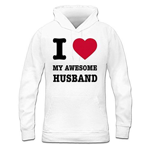 Sudadera con capucha de mujer I Love My Awesome Husband by Shirtcity Blanco
