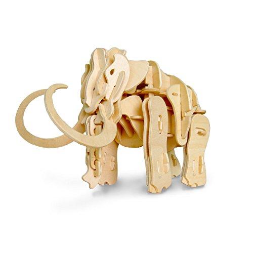 DINOROID Mammoth Walking & Roaring Wooden Dinosaur - Dinobot Kit