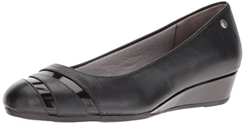LifeStride Women's Flash Wedge Pump Black GQxhMLAv7