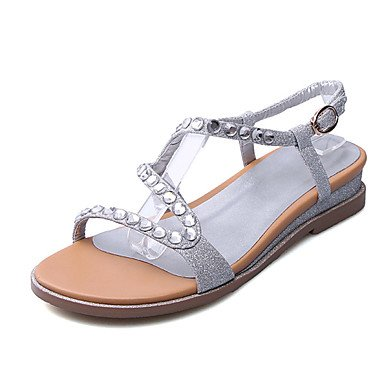 Zormey Sandalias De Mujer Zapatos Club Oficina De Microfibra &Amp; Carrera Parte &Amp; Vestido De Noche Rhinestone Talón Plano US6 / EU36 / UK4 / CN36