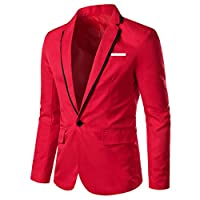 appleLOL Men's Casual Solid Blazer...