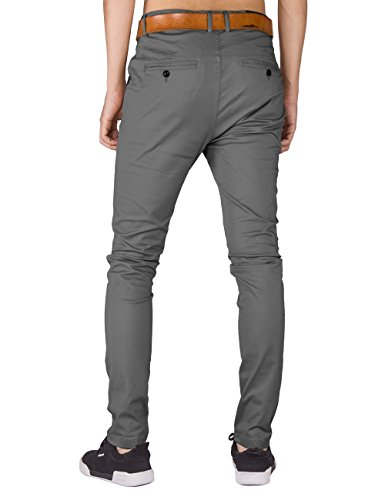 Casual Fit I Mid Flat Chino Pants Mens Slim TALYMORN Khakis Front Grey Y1vYqz