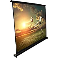 Pyle 50 Projector Screen with Floor Standing Portable Fold-Out Roll-Up Tripod Manual, Mobile Movie Screen, Home Theater Cinema Wedding Party Office Presentation, Quick Assembly (PRJTP53)