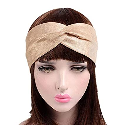 Skudgear Women s Soft Shining Elastic Twisted Knot Turban Headband ... d4ff9acfd63
