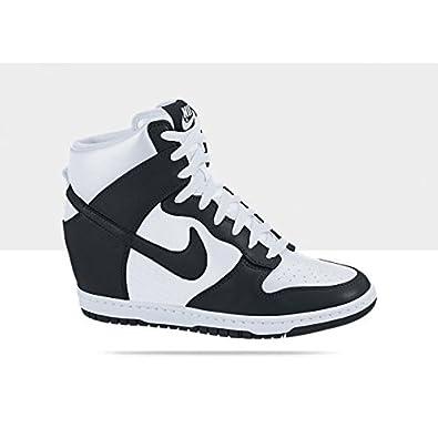 sports shoes b7cf5 a5151 Nike Wmns Dunk Sky Hi High White Black Hidden Wedge Heels Women s Sneakers  Shoes (