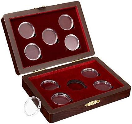 Caja de madera para monedas, ajustable, soporte de almacenamiento ...