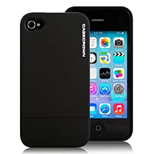 CaseCrown Lux Glider Case for Apple Phone 4 and 4s - 1 Pack - Black