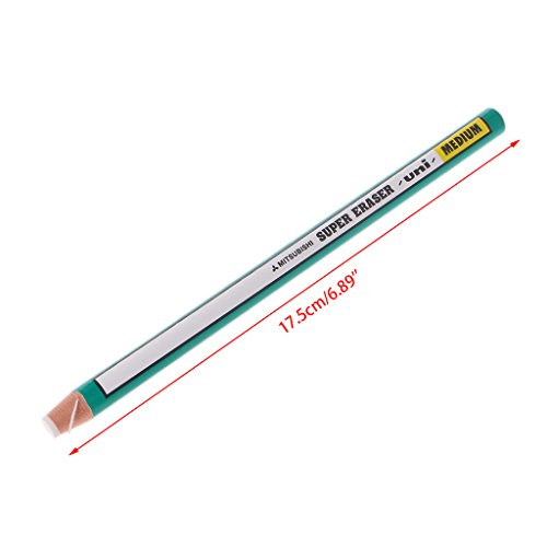 ForHe 1pc Pen Shaped Pencil Erasers with Paper Wrapping Dust Free Clean for Art, Office, School - Graphite Monitor Standard