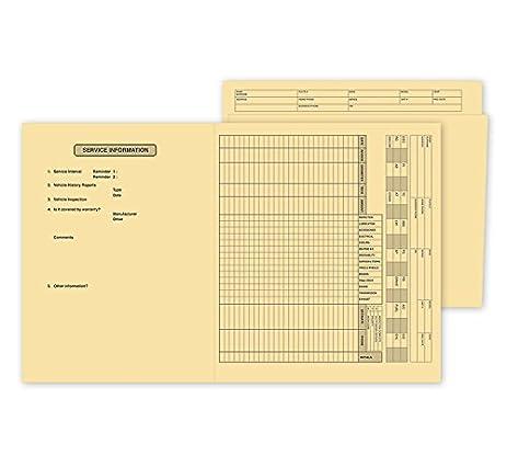 amazon com abc heavy duty service file folder preprinted vehicle