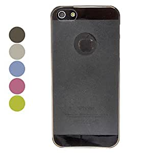 0.5mm Ultrathin Transparent Frosted Hard Case for iPhone 5/5S (Assorted Colors) --- COLOR:Blue