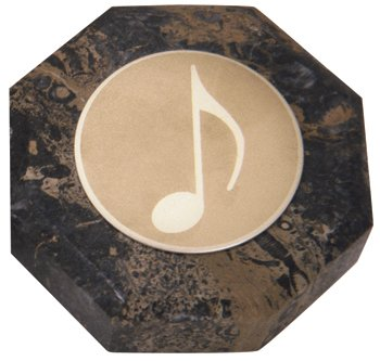 Music Marble Octagon Paperweight, pack of 1 Octagon Paperweight