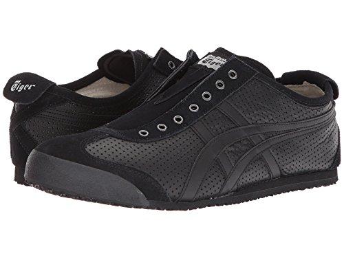 [Onitsuka Tiger(オニツカタイガー)] ユニセックスランニングシューズ?スニーカー?靴 Mexico 66 Slip-On Black/Black Men's 8.5, Women's 10 (26.5cm(レディース27cm)) Medium