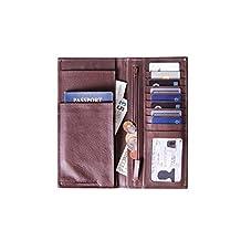 Genuine Nappa Leather Travel Document Holder, Organizer and Passport Wallet / Travel Accessories (Vintage Brown)