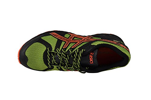 Asics - Zapatillas para deportes de exterior para hombre Onyx/Flash Orange/Flash Yellow