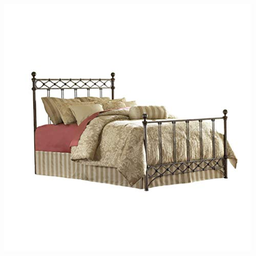 HEATAPPLY Kin g Size Metal Bed with Headboard and Footboard in Copper Chrome Fin ish, King Size Metal Bed with Headboard and Footboard in Copper Chrome Finish ()