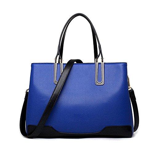 BAILIANG Hit Mesdames PU à Fashion Blue Main Crossbody Bandoulière à Sac Sac Color ffqHwRFrx