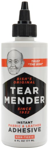 Tear Mender Bish's Original Tear Mender Instant Fabric and Leather Adhesive, 6 oz Bottle, - More Cover Sim