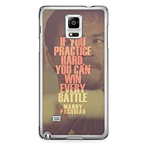 Manny Pacquiao Samsung Note 4 Transparent Edge Case - Quote if you practice hard
