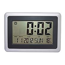 MISUE 10-INCH Large Digital Wall or Desktop Clock With Alarm ,Date,Temperature & Week Display