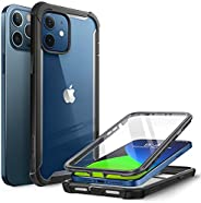 i-Blason Ares Case for iPhone 12, iPhone 12 Pro 6.1 Inch (2020 Release), Dual Layer Rugged Clear Bumper Case w