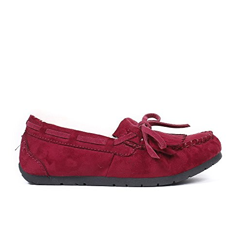 Ideal Shoes, Damen Slipper & Mokassins Bordeaux